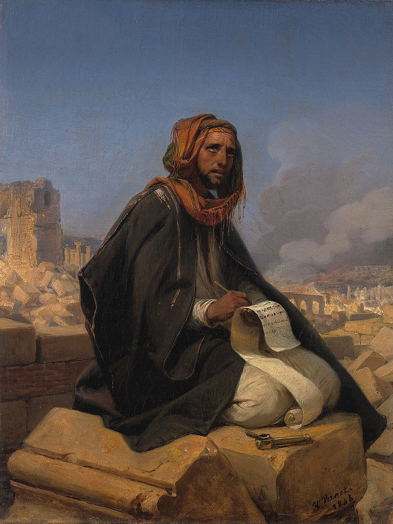 jeremiah on the ruins of jerusalem horace vernet 1844